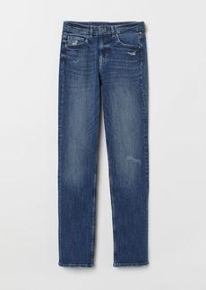 H&M H & M - Straight Regular Jeans - Blue