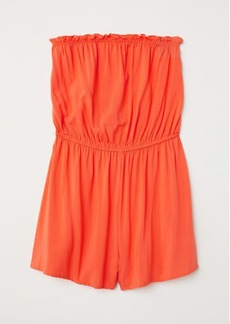 H&M H & M - Strapless Jumpsuit - Orange