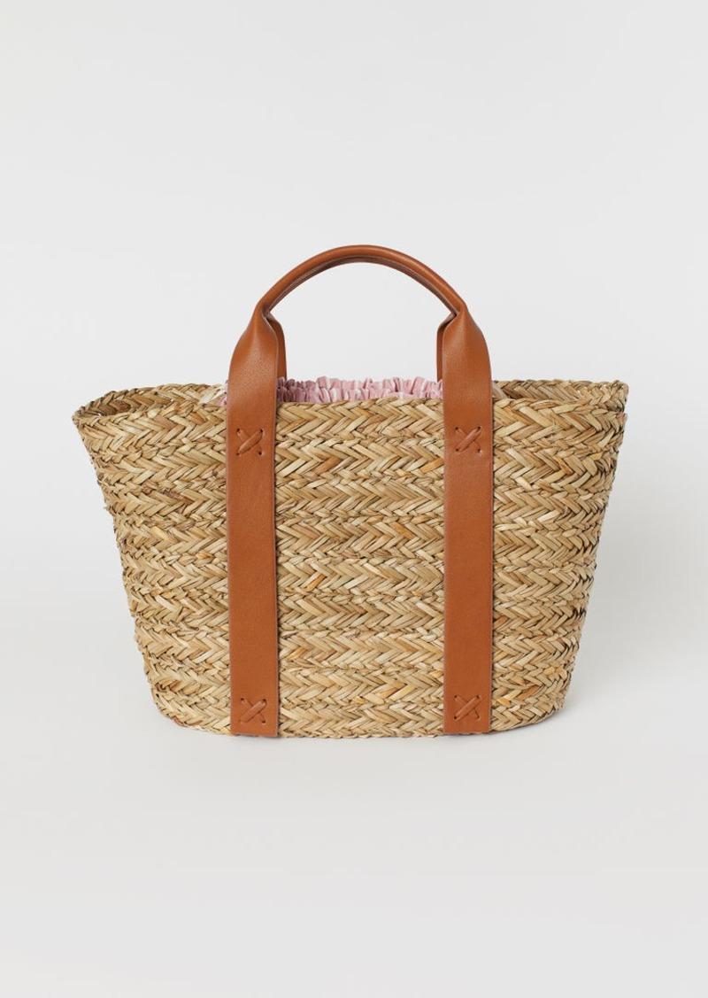 H & M - Straw Bag - Orange