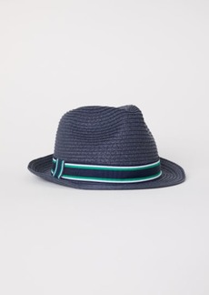H&M H & M - Straw Hat - Blue