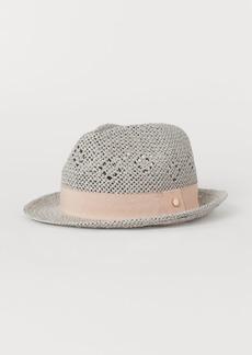 H&M H & M - Straw Hat - Gray