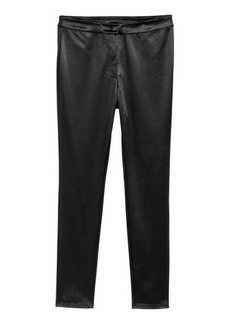 H&M H & M - Stretch Pants with a Sheen - Black