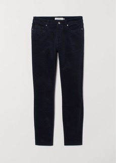 H&M H & M - Stretch Velvet Pants - Blue