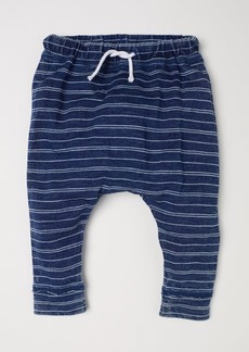 H&M H & M - Striped Jersey Pants - Blue