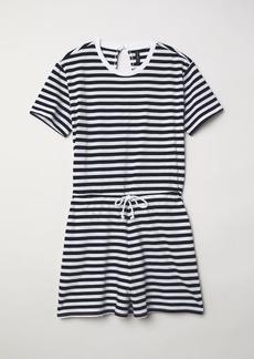 H&M H & M - Striped Jumpsuit - Blue