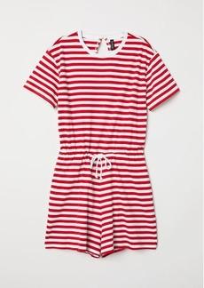 H&M H & M - Striped Jumpsuit - Red