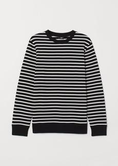 H&M H & M - Striped Sweatshirt - Black