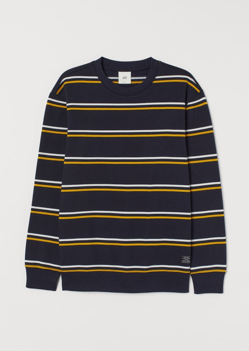 H&M H & M - Striped Sweatshirt - Blue