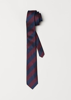 H&M H & M - Striped Tie - Blue