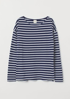 H&M H & M - Striped Top - Blue