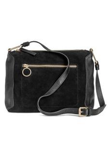 H&M H & M - Suede and Leather Shoulder Bag - Black
