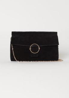 H&M H & M - Suede Clutch Bag - Black