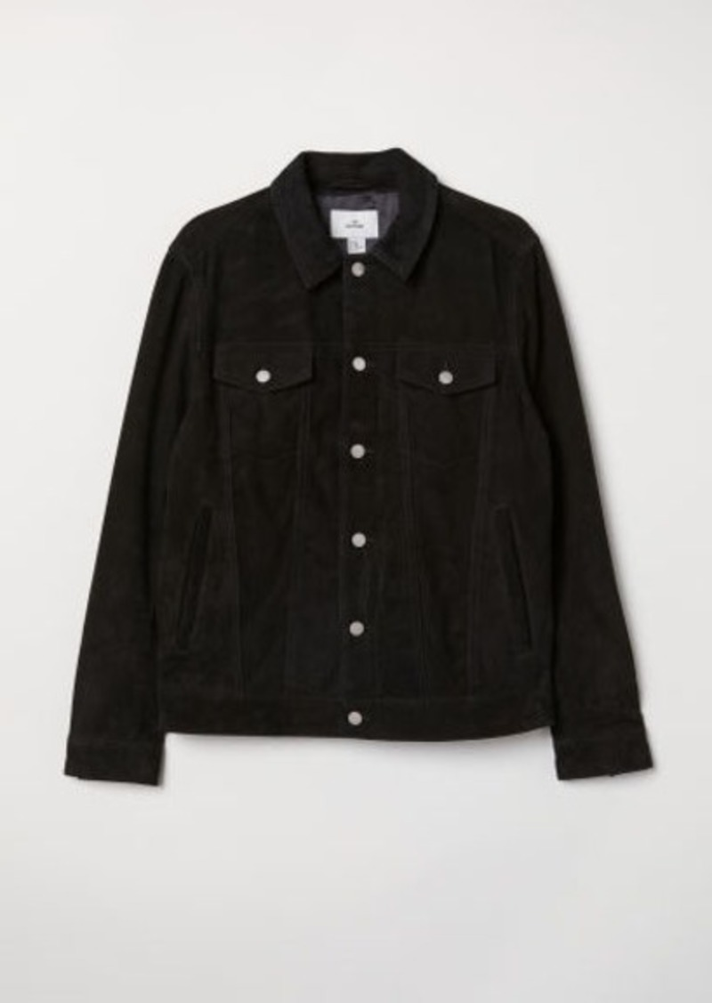 H&M H & M - Suede Jacket - Black