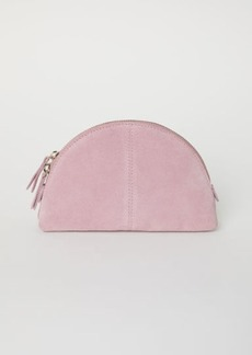 H&M H & M - Suede Makeup Bag - Pink