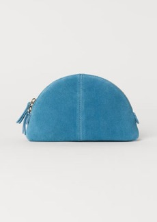 H&M H & M - Suede Makeup Bag - Turquoise
