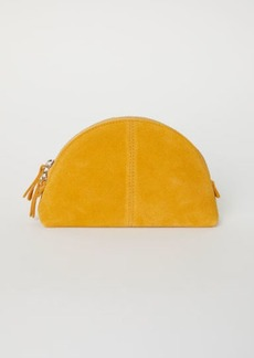 H&M H & M - Suede Makeup Bag - Yellow