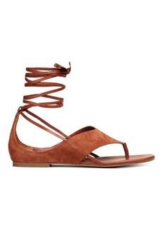 H&M H & M - Suede sandals - Orange