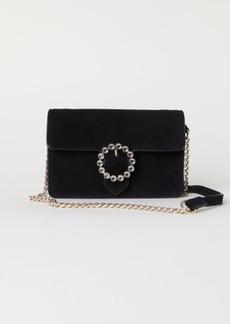 H&M H & M - Suede Shoulder Bag - Black