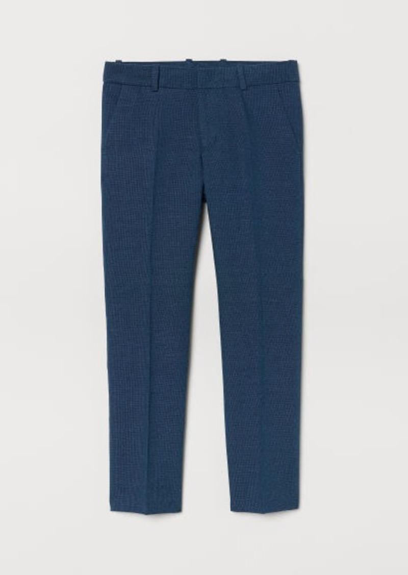 H&M H & M - Textured Suit Pants - Blue