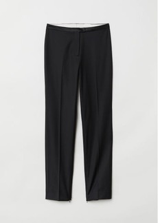 H&M H & M - Suit Pants with Zips - Black