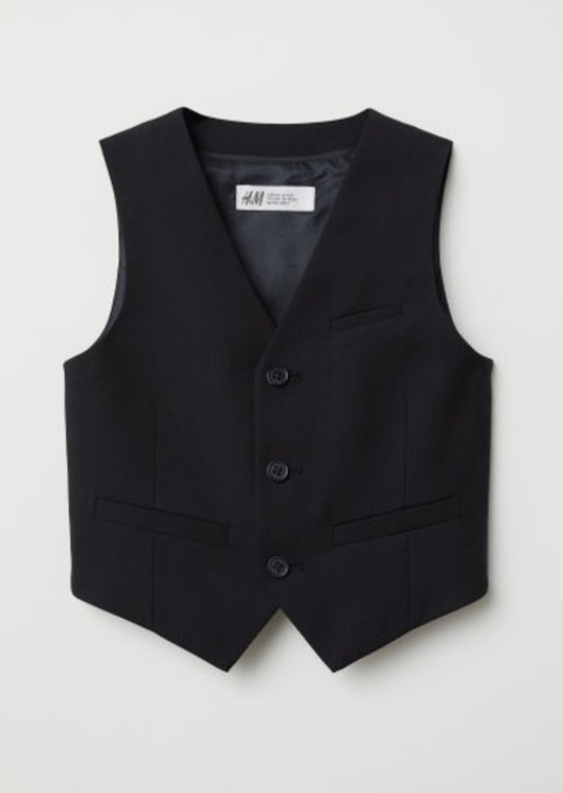 H&M H & M - Suit Vest - Black