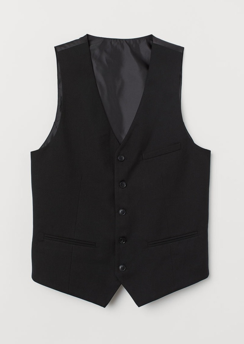 H&M H & M - Slim Fit Suit Vest - Black