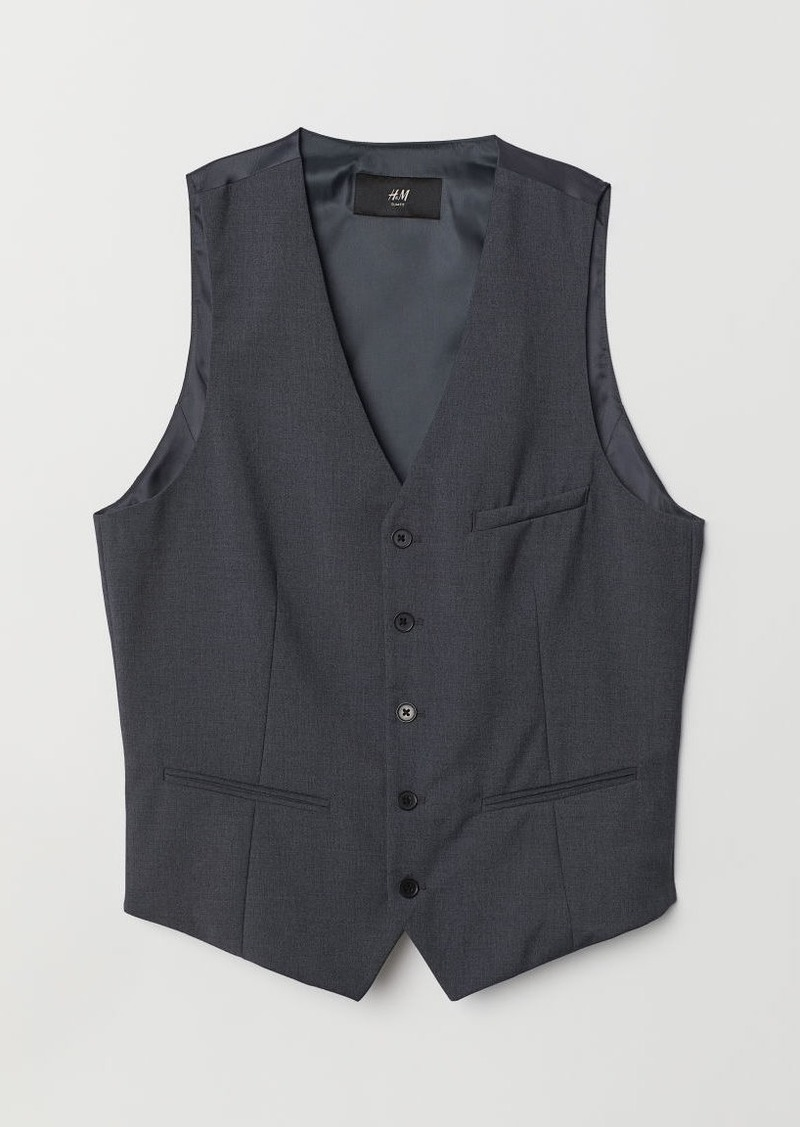 H&M H & M - Slim Fit Suit Vest - Gray