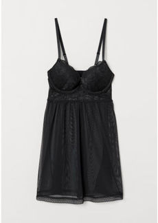 H&M H & M - Super Push-up Nightgown - Black