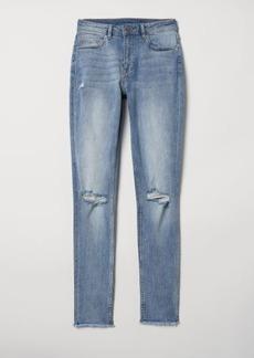 H&M H & M - Skinny Regular Ankle Jeans - Blue