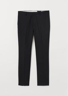 H&M H & M - Super Skinny Fit Suit Pants - Black