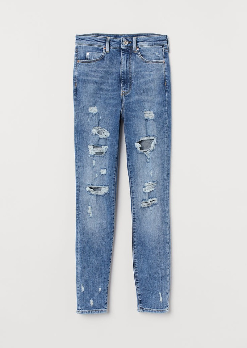 H&M H & M - Super Skinny High Ankle Jeans - Blue