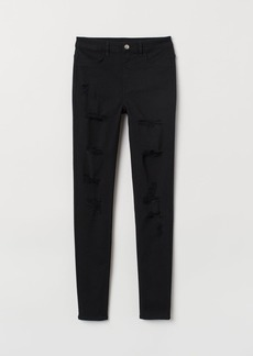 H&M H & M - Super Skinny High Jeans - Black