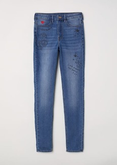 H&M H & M - Super Skinny High Jeans - Blue