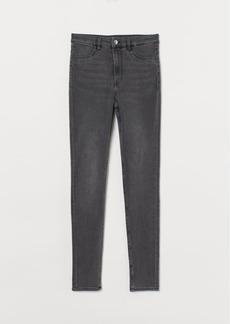 H&M H & M - Super Skinny High Jeans - Gray