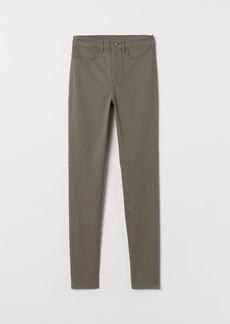 H&M H & M - Super Skinny High Jeans - Green