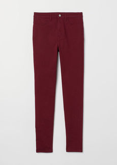 H&M H & M - Super Skinny High Jeans - Red