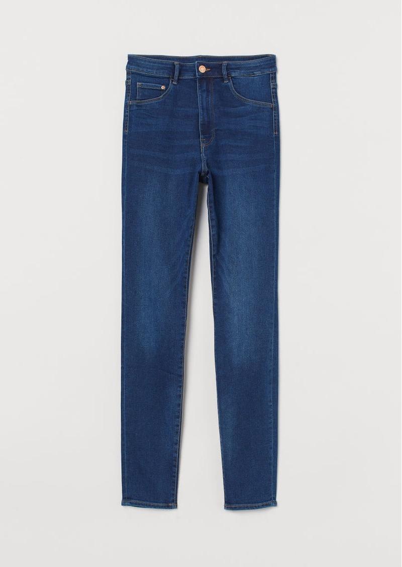H&M H & M - Super Skinny High Jeggings - Blue