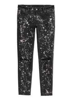 H&M H & M - Super Skinny Low Ankle Jeans - Black