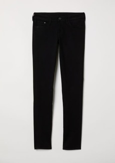H&M H & M - Super Skinny Low Jeans - Black