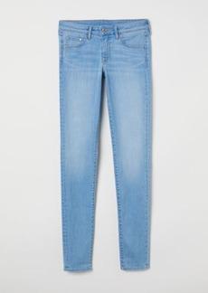 H&M H & M - Super Skinny Low Jeans - Blue