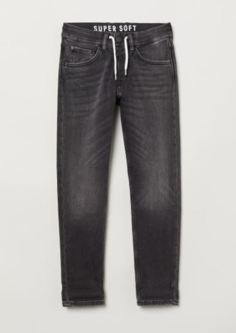 H&M H & M - Super Soft Denim Joggers - Black