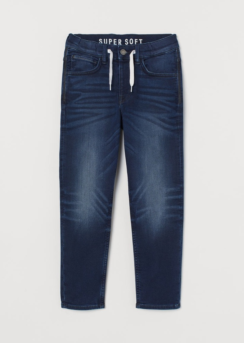 H&M H & M - Super Soft Denim Joggers - Blue