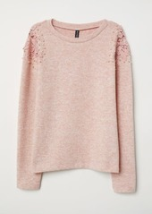 H&M H & M - Sweater with Embroidery - Pink