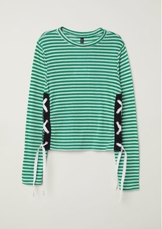 H&M H & M - Sweater with Lacing - Green