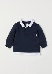 H&M H & M - Sweater with Shirt Collar - Blue