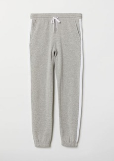 H&M H & M - Sweatpants with Side Stripes - Gray