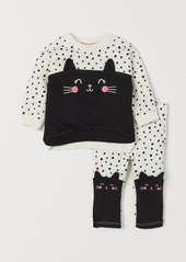 H&M H & M - Sweatshirt and Leggings - White
