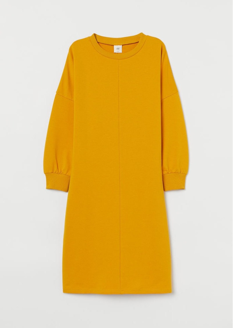H&M H & M - Sweatshirt Dress - Yellow