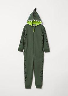 H&M H & M - Sweatshirt Jumpsuit - Green