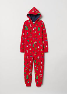 H&M H & M - Sweatshirt Jumpsuit - Red
